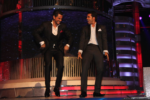 Tushar Kapoor and Kunal Khemu entertaining the audience at BIG STAR IMA AWARDS   1