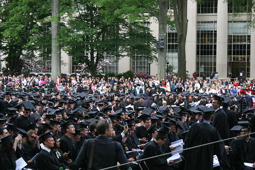 Graduates entering Killian Court