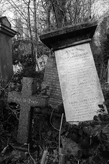Rest in Peace (and the moon rose) Tags: blackandwhite london cemetery grave headstone stokenewington abneypark abneyparkcemetery