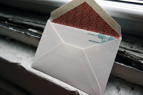 Letterpress greeting cards - lanterns! - by Smock