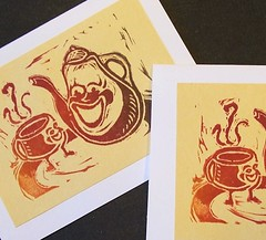 'tea for two cards' - craftyhag on Flickr