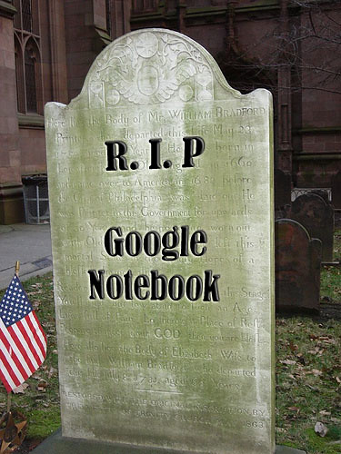 Death of Google Notebook