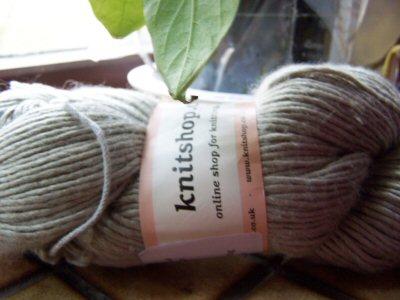 knitshop merino silk silver