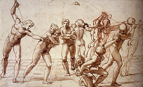 1510  Raphael    Study for the Massacre of the Innocents  Pen and brown Ink  23,2x37,7 cm  Londres, British Museum