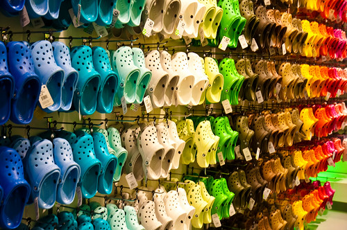 A Rainbow of Crocs