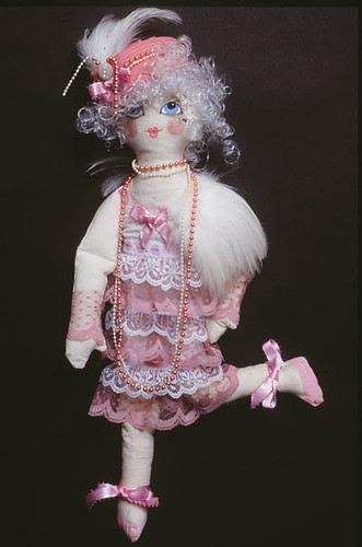 Pink Lady Doll in a Flapper Style