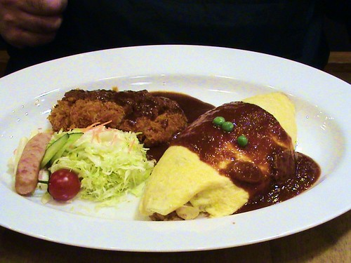 curry omu-rice set
