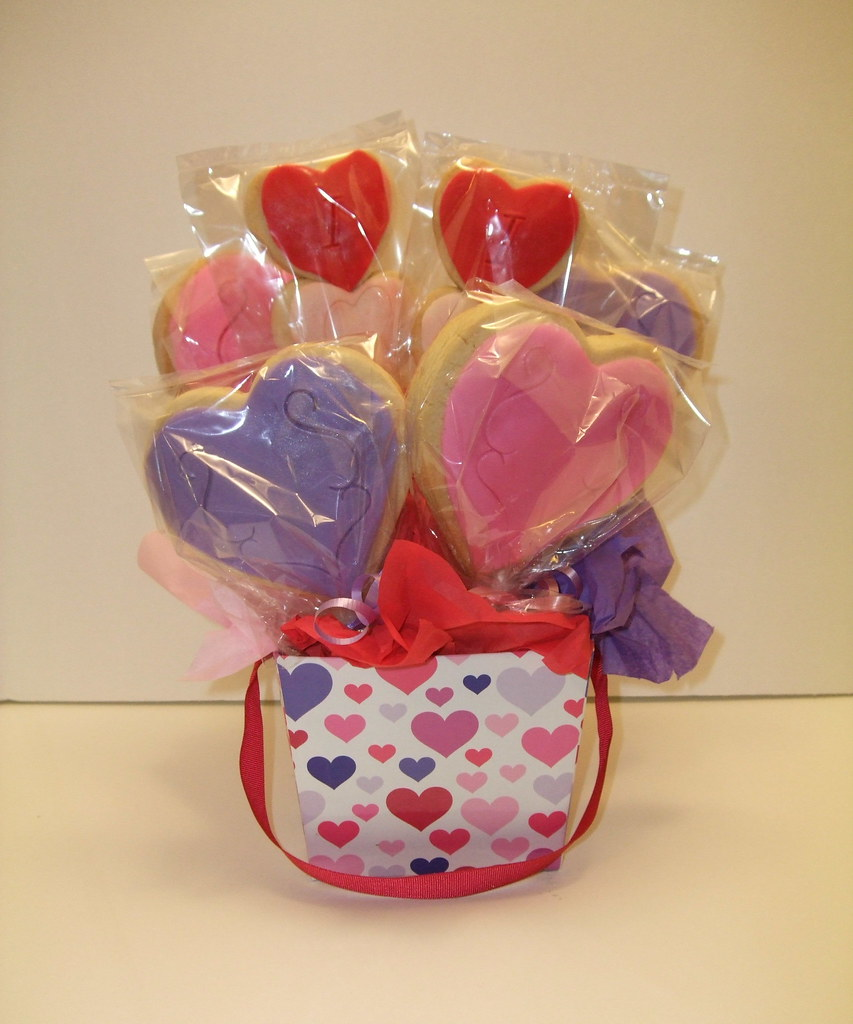 Large Valentine's Cookie Bouquet