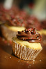 V-Day Cupcakes (ginnerobot) Tags: cute dessert 50mm cupcakes baking bokeh cupcake sprinkles icing bakedgoods