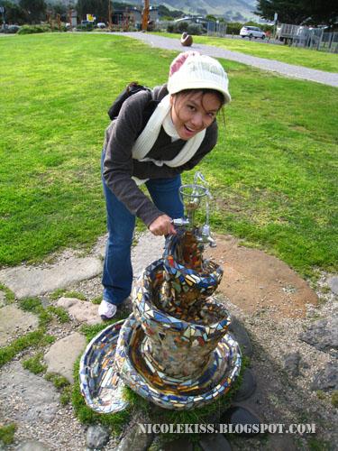 colorful fountain in apollo bay