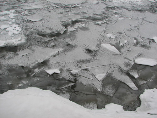 ice in the water, Charlotte, VT