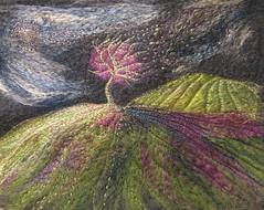 Stormy Night (kayla coo) Tags: storm art landscape artwork handmade embroidery textile fields fiberart textileart csfeature kaylacoo