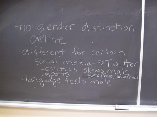 Gender and Blogging Session