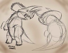 2.20 - Unlikely, but AWESOME, Triceratops doodle