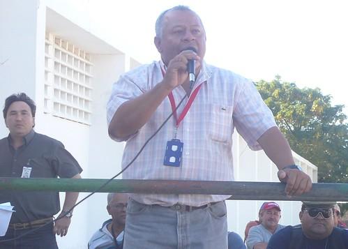Iván Freites, sec. general del Sutpgef y dirigente de CCURA-Petróleo