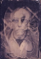 Bob. (Witness to Light) Tags: uk portrait wetplate alternative alternativeprocess collodion wetplatecollodion witnesstolight glassnegativewitness lightportraitwetplatecollodionglass negativeambrotypelarge format5x7witness format5x7