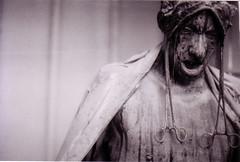haunted (candace hope) Tags: blackandwhite ishootfilm 3200 minoltax370 hauntedhouse phoenixarizona january2009