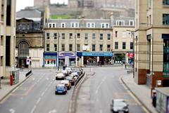 Lothian Road (elementalPaul) Tags: road trafficlights cars scotland miniature model edinburgh traffic pentax caffenero lothianroad picturehouse tiltshift faketiltshift  k10d pentaxk10d pentaxda50135mmf28 hmvpicturehouse
