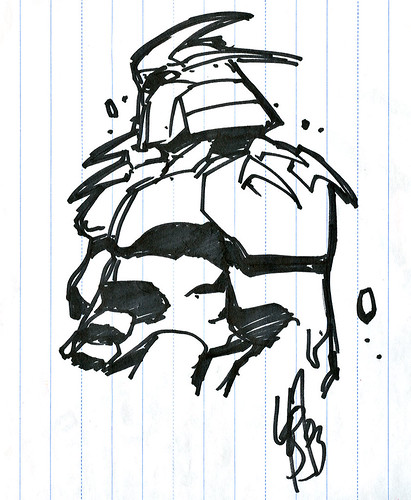 """ The Shredder "" .. sketch by LeSean Thomas (( 2003 ))"