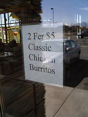 2 Fer $5!?!? (chrisholifield) Tags: signs funny deltaco