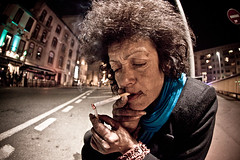 maya! (Stphane Giner) Tags: street portrait woman france canon maya cigarette afro homeless fisheye toulouse rue sdf 15mm stphane giner upcoming:event=2371683