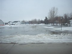this is by grandmas house (legallyglinda) Tags: river flood 2009 fargo sheyenne