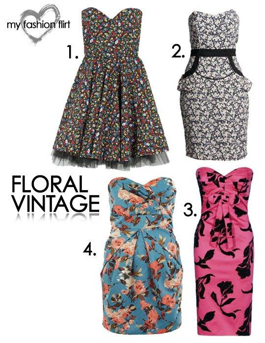 Floral Vintage Style Dresses