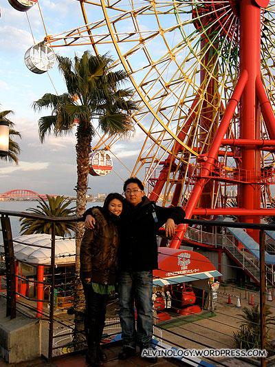 Beside the ferris wheel