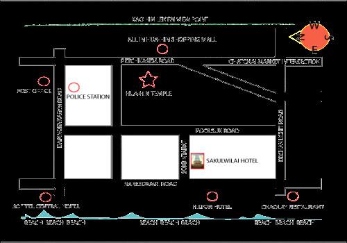 華欣民宿 Sakulwilai Hotel 地圖