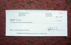 Check from My Scammer