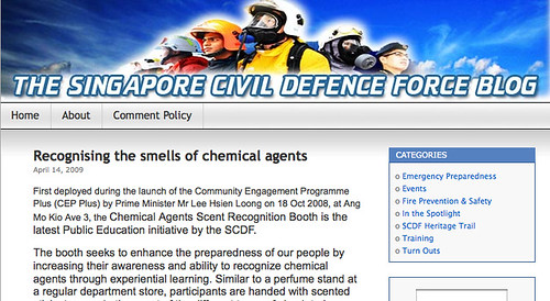 The Singapore Civil Defence Force Blog