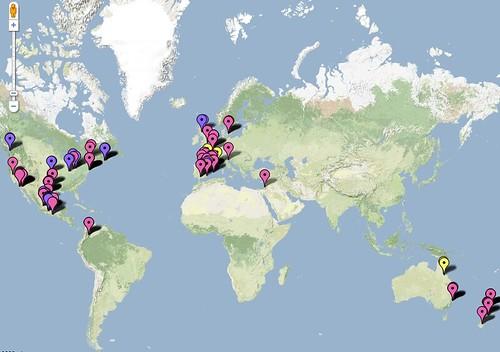 Influenza Porcina en Google Maps