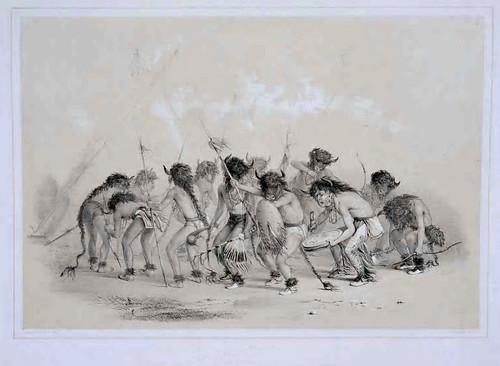 005-La danza del bufalo-George Catlin 1875-1877