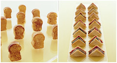 Candy Shop: Mini Sandwiches (camillestyles) Tags: willywonka parties appetizers whimsical comfortfood kidsbirthdayparty themeparty horsdoeuvres minisandwiches stylenotes camillestyles minigrilledcheese