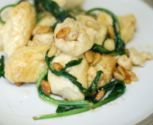 Gnocchi with Rocket and pine nuts
