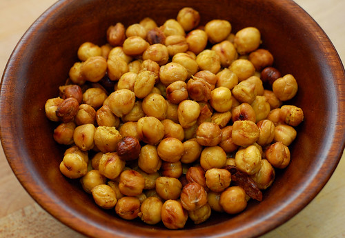 Turmeric and Cumin Roasted Chickpeas