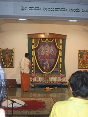 Arati at Chaithanya Bharathi Mandir