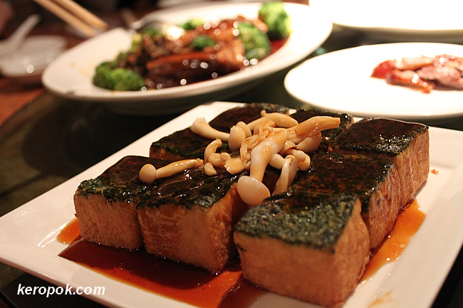 Braised Spinach Beancurd