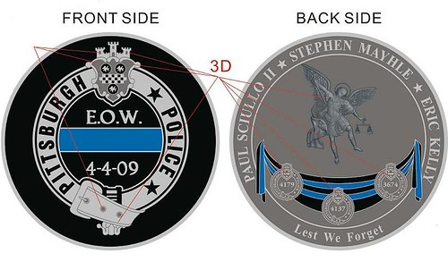 Pittsburgh Police Challenge Coin