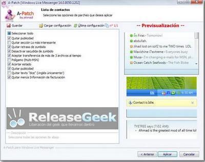 eliminar publicidad msn 2009 a patch