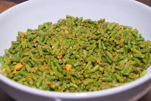 Chinese Long Bean with Salted Egg Yolk