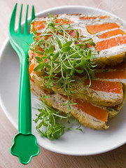 Terrine  pumpkin & spinach (o_lesyk) Tags: summer vegetables cheese pumpkin spring spinach terrine foodphoto rusticfood