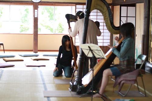 葵ハープ教室コンサート リハーサル