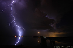 Clinton Dam Lightning + Moon (Stacked Plates) Tags: platinumphoto kansasthunderstorms