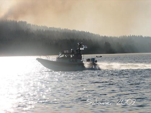 Järvipelastaja matkalla Laivonsaareen