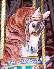 Pretty Horses (wyojones) Tags: horse texas houston carousel np merrygoround 2009 houstontexas woodenhorse houstonlivestockshowandrodeo wyojones