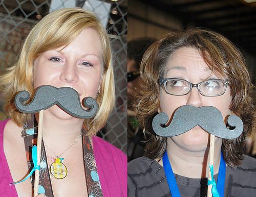 Maker Faire Moustaches