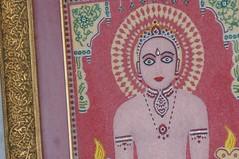 pink art temple eyes purple delhi frame stare lovely jewels jain mandir beadwork tirthankara mahavir mahavira shvetambara dadabari dadabadi