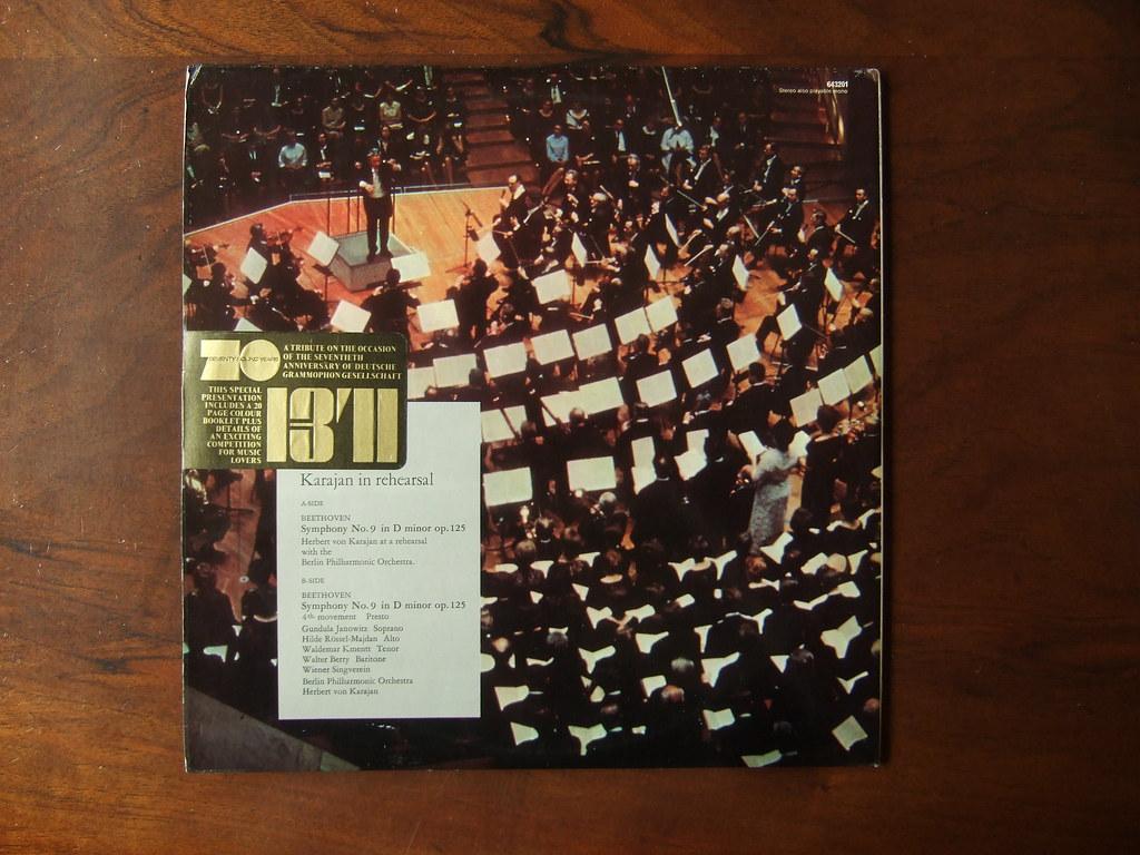Special Edition - Karajan In Rehearsal - 70th Anniversary of DGG '68- Beethoven - Symphony No.9 op.125 Rehearsal Live, 4th Movement, Gundula Janowitz, Hilde Rossel-Majdan, Waldemar Kmentt, Walter Berr