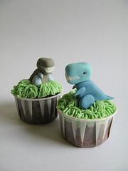 Dinosaur Birthday Cupcakes